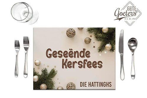 Christmas Placemats set of 6 beige