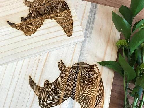 Large Rhino chopping/serving board