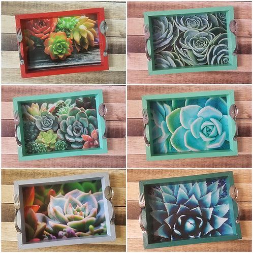 Skinkbord - protea/succulent