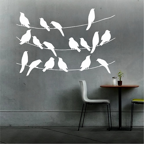 Birds on line - Medium