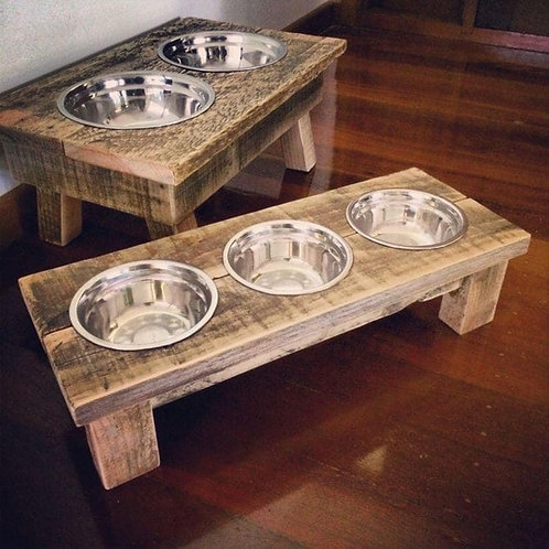 Dog Bowls and stand - with dog name