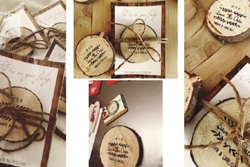 Wood Slices Save the date