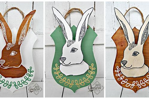 Bunny Heads/Haas koppies (Set of 3)