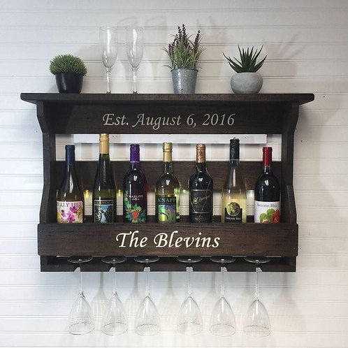 Custom Wine Rack - with vinyl
