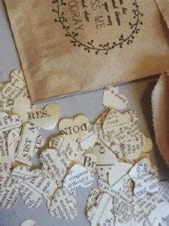 Bags of Hearst Confetti