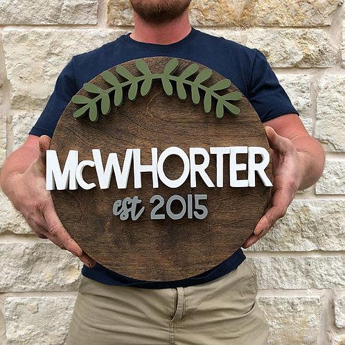 Wood Cut out Circle 40cm