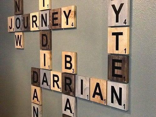 Scrabble letters each 10cm