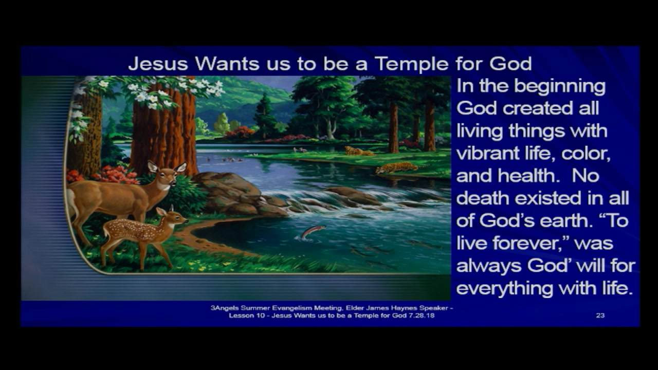 "Amazing Truth Bible Seminar - Lesson 10: ""A Temple of God"""