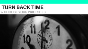 Find time for your priorities