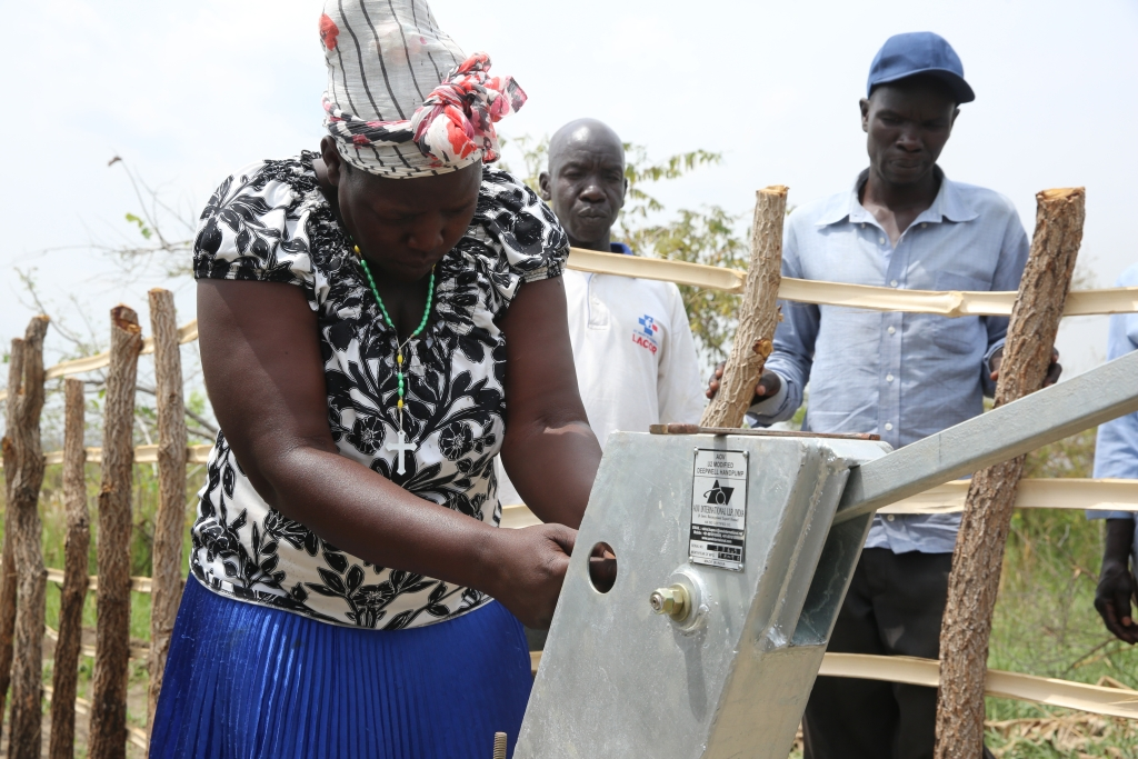 Studnia we wsi Abye