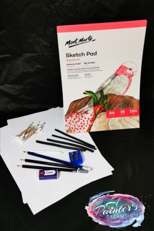 Charcoal and Drawing Kits