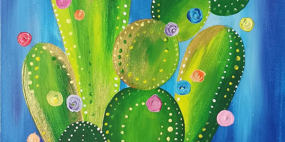 Colourful cactus kids class