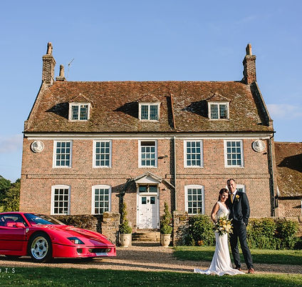 Chafford Park Estate Manor House with Bride and Groom