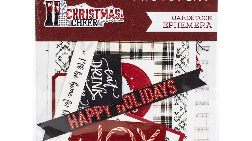 Photoplay Christmas Cheer ephemera diecuts
