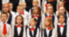 Children singing in a performance of Young Artist's Choir.