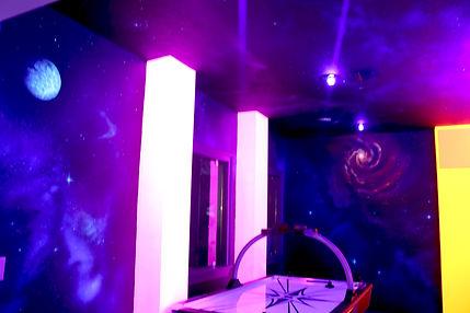 Star Wars Inspired Black Light Game Room