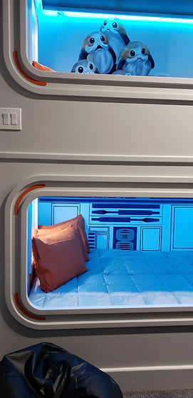 Star Wars Inspired Quad Bunk Bed and Bedroom