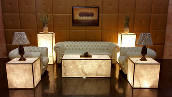 Faux Marble Glowing Furniture