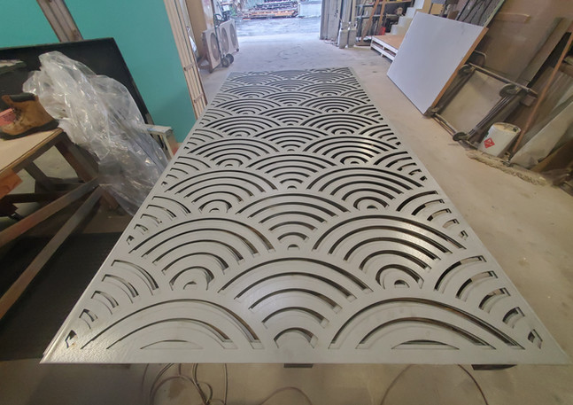 CNC Routed Metal Art Panel