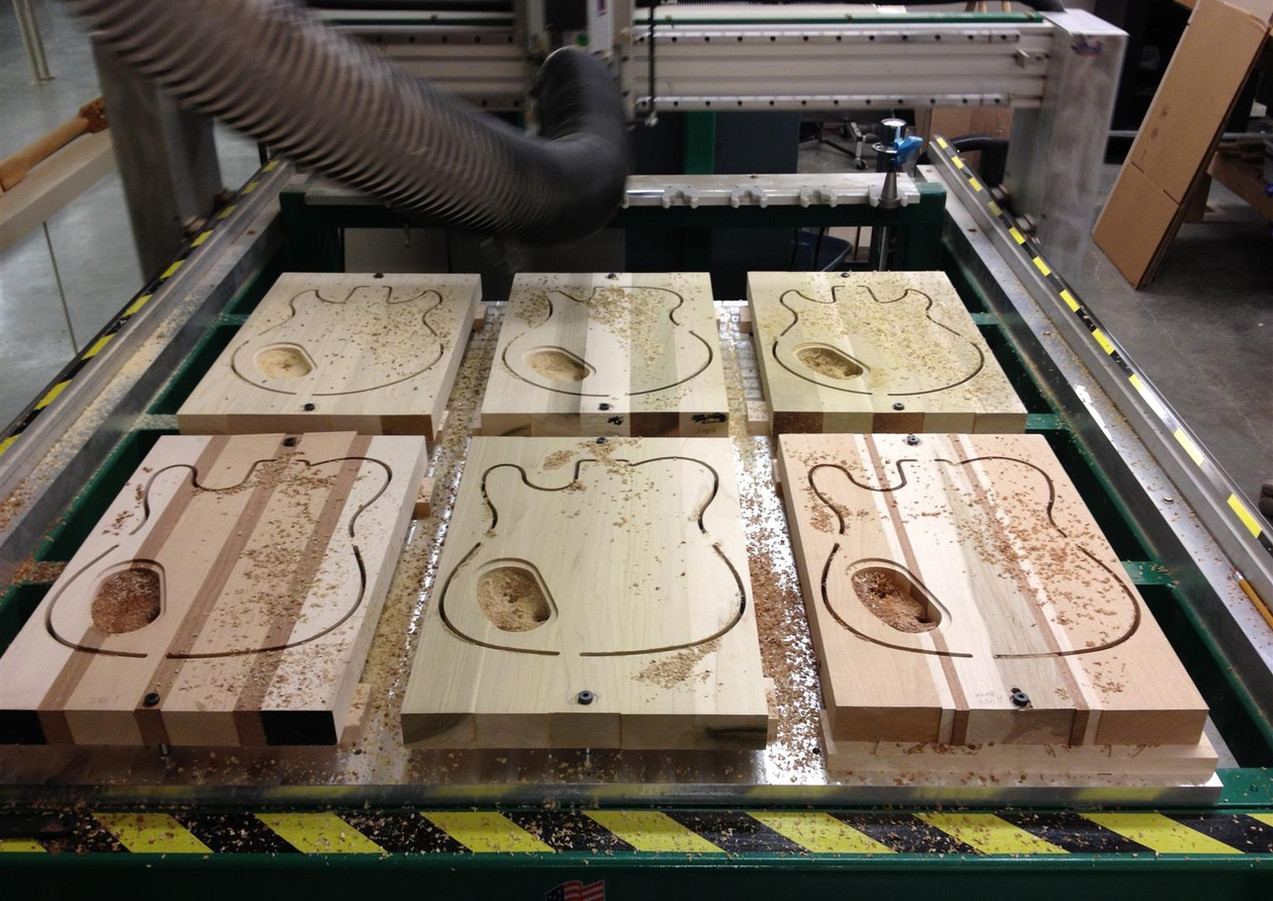 CNC Routed Guitar body