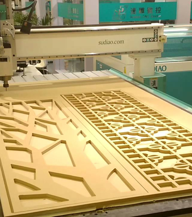 CNC routed pattern for doors