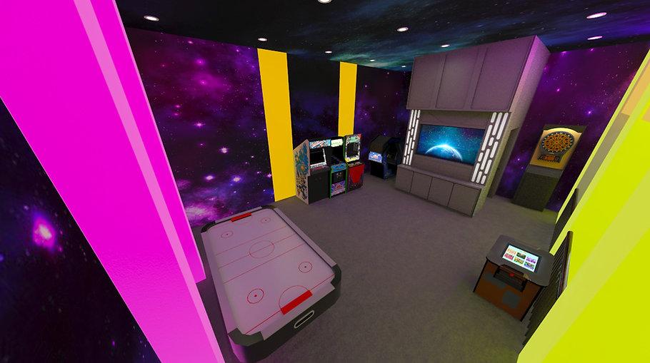 Custom Themed Interior Star Wars Inspired Black Light Game Room
