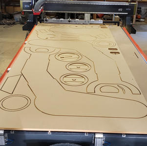 CNC Routed Panels for Themed Room