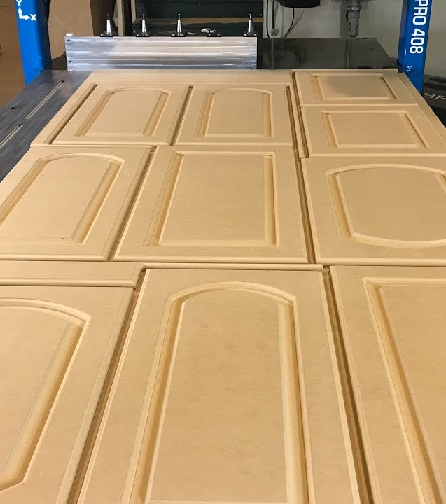 CNC Routed cabinet doors
