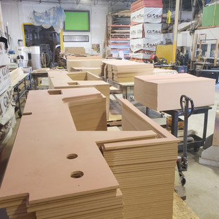 CNC Routed Panels for Room
