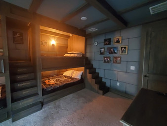 Harry Potter Bunk Beds and Stairs