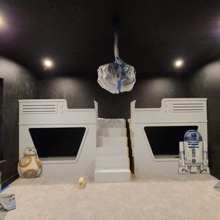 CNC Routed Star Wars Bunk Beds