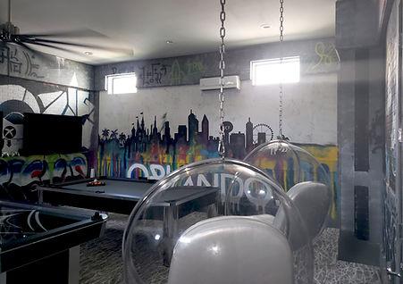 Disney inspired 360 alley scene game room