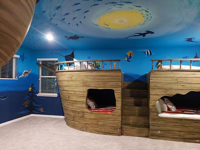 Sunken Pirate Ship Themed Bedroom