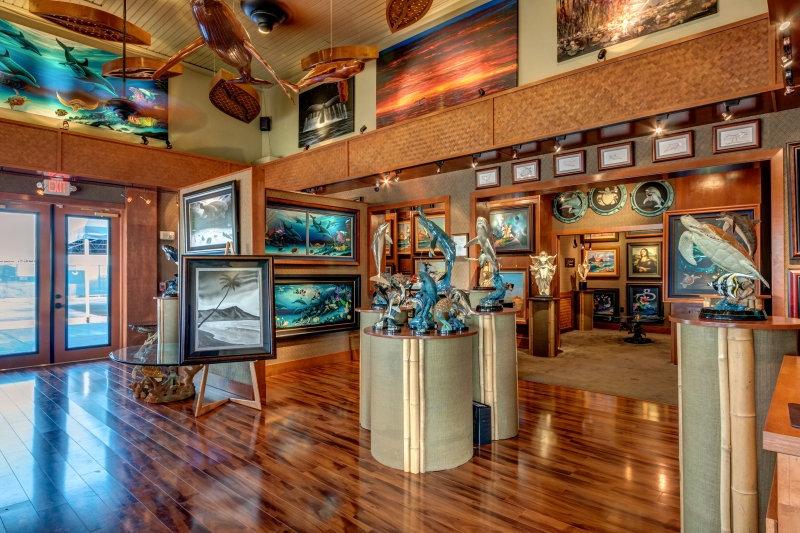 Wyland Art Gallery Custom Woodwork
