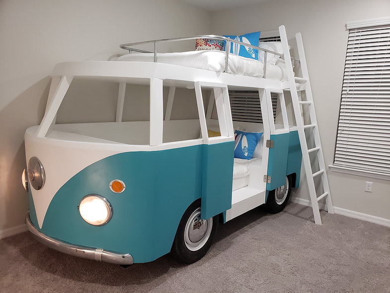 VW Bus Themed Bed