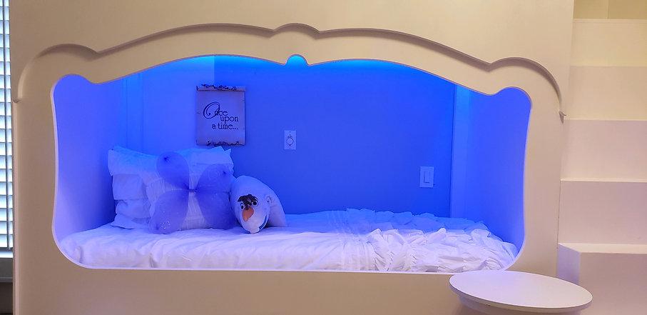 Frozen inspired Princess Bedroom