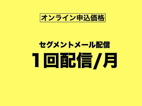 【オンライン申込専用】セグメントメール月1回配信