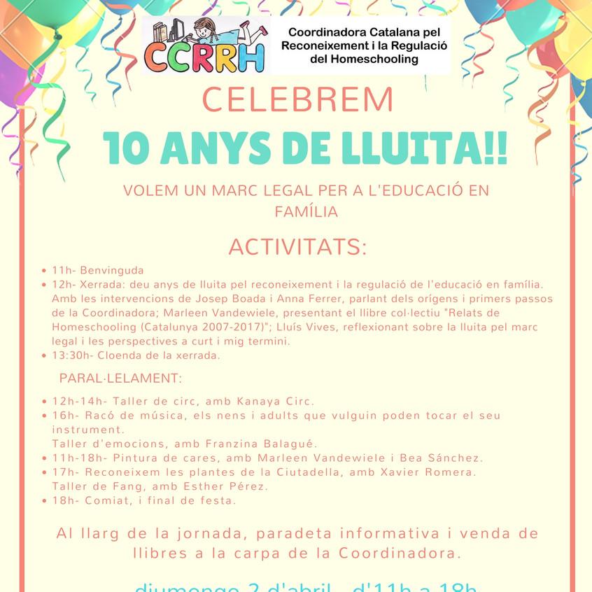 Activitats Celebrem 10 Anys!!