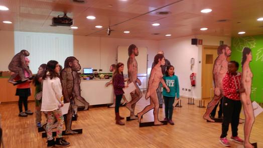 """Taller """"L'evolució humana pas a pas"""" al CosmoCaixa BCN"""