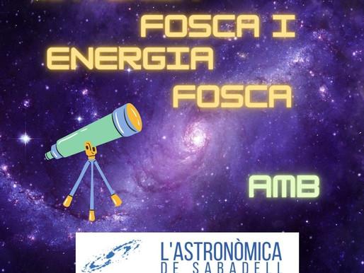 Astronomia online amb l'Agrupació Astronòmica de Sabadell - Matèria fosca i energia fosca.