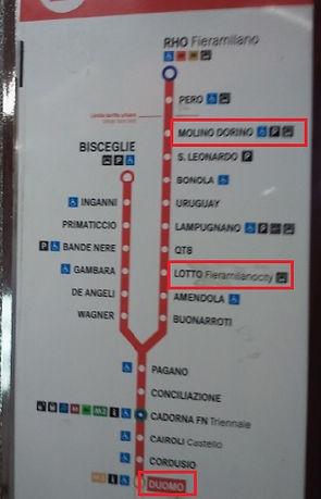 イタリア・ミラノ・地下鉄