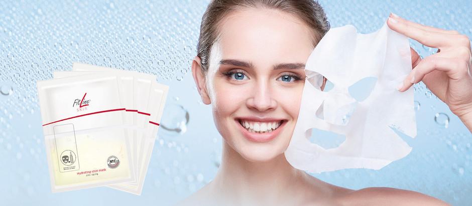 Den nye FitLine skin Hydrating-shot Ansiktsmaske – gi deg selv en shot og vis fram skjønnheten din!