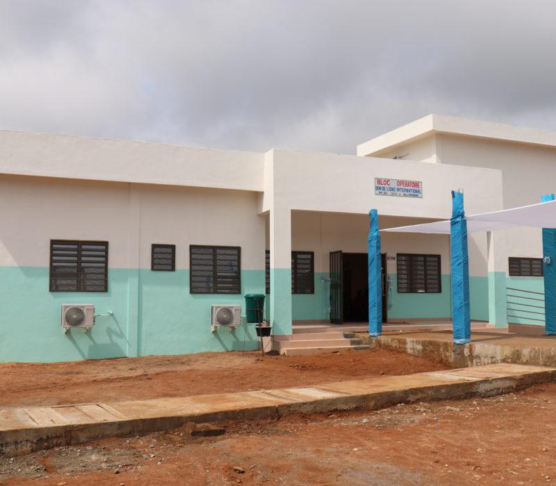 Det nylig utvidede Hopital Ophthalmologique St. André de Tinré (HOSAT) i Parakou, Benin.