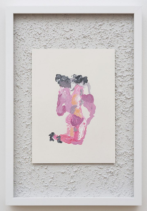 Pumps, 2017, Gouache on Paper on Stucco