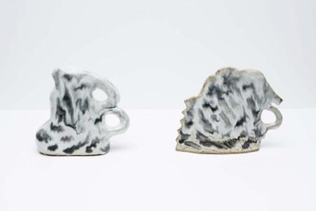 Conversations in Held Poses, 2013, Glazed ceramic