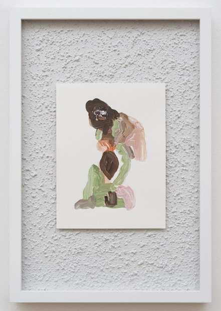 Fitted, 2017, Gouache on Paper on Stucco