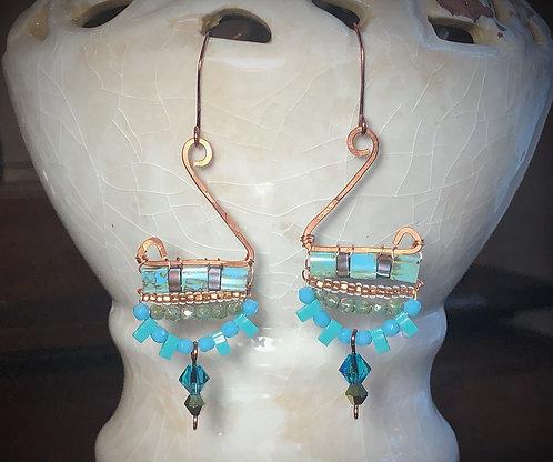Blue Elegance Earrings