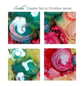 """Swirls"" Coaster Set"