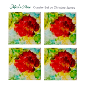 """Mixi's Rose"" Coaster Set"