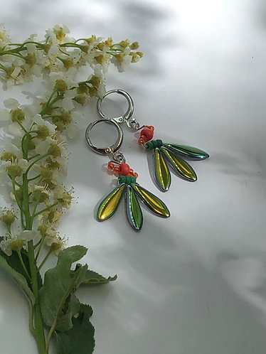 Leaves and Berries Earrings